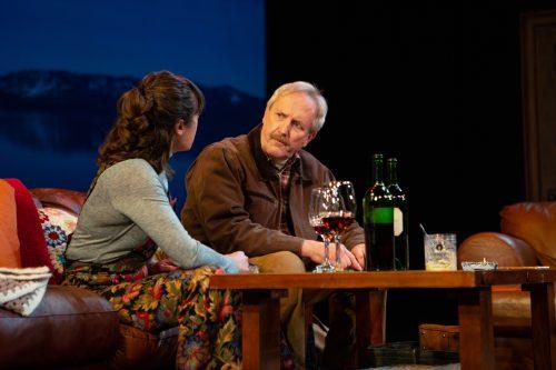 Len (Dan Hiatt) and Gabrielle (Blythe de Oliveira Foster) discuss Jackie's future.