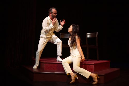 Keith Pinto* and Rinabeth Apostol* in Starting Here, Starting Now at San Francisco Playhouse.